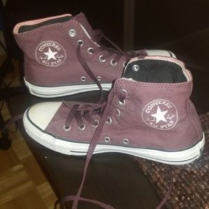 Converse high top sneakers with fold down
